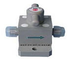 PVC valve, 60°C, for chemicals, pure water, gas and etc. applications