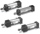 Pneumatic Cylinder with Safety Lock